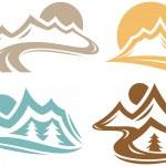 Mountain Symbols — Stock Vector #37392379
