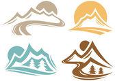 Mountain Symbols — Stock Vector