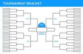 Tournament Bracket — Stock Vector