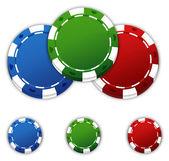 Pokerchips — Stock Vector