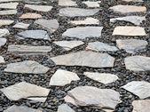 Pebble stone walkway — Stock Photo