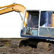Parking excavator — Stock Photo
