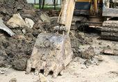 Parking excavator — Stock Photo