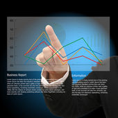 Point to graph — Stock Photo