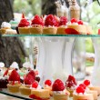 Stock Photo: Wedding desserts