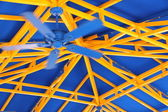 Ventilador azul — Foto de Stock