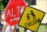 Signs of bullying — Stock Photo