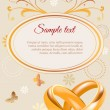 Wedding invitation - Stok Vektör