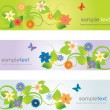 Web headers with flowers — Stock Vector