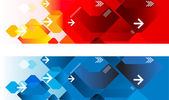 Geometric web headers — Stock Vector