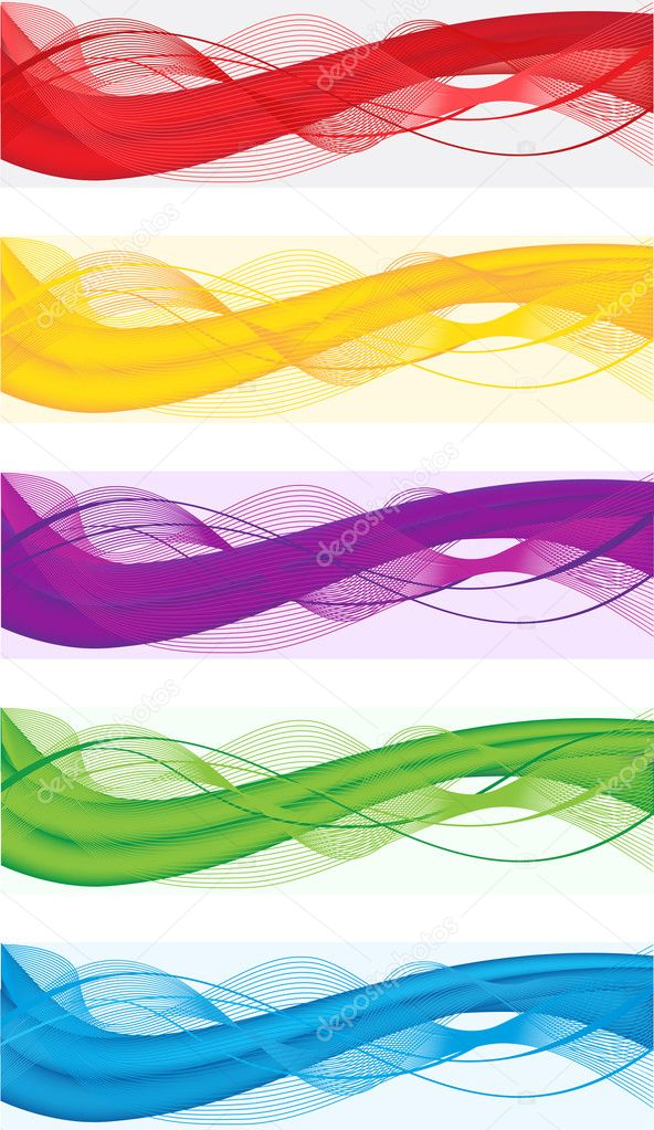 A set of abstract banners for web header of different colors — Stock Vector #19616317