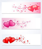 Love Banners — Stock Vector