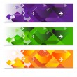 Geometric web headers — Stock Vector