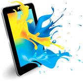 Digital tablet — Stock Vector