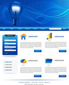 Blue business website templates — Stock Vector
