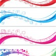 Abstract banner set — Vector de stock #29783631