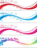 Abstract banner set — Vector de stock