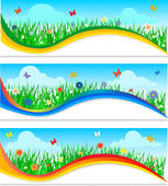 Nature banners set — Stock Vector
