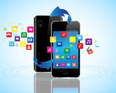 Smart phones apps — Stock Vector