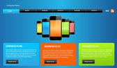 Website template design — Stock Vector