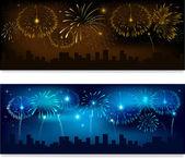 Fireworks banner — Stock Vector