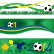 Stock Vector: Football banners