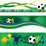 Football banners — Stock Vector #39768121