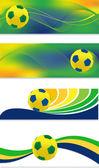 Soccer banner set — Stock Vector