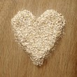 Royalty-Free Stock Photo: Heart Shape Oatmeal