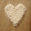 Heart Shape Oatmeal — Stock Photo