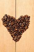 Kalp şekli kahve çekirdeği — Stok fotoğraf