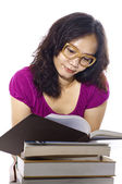 College Woman Study — Stock Photo