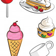 Royalty-Free Stock Vector Image: Set Of Dessert
