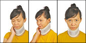 Set Of Neck Support Images — Stock Photo