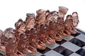 Ready To Play Black Chess Pieces — Stock Photo