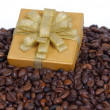 Presents and Coffee Beans — Stock Photo