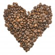 Heart Shape Coffee Beans — Stock Photo #24283765