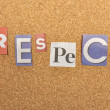 Stock Photo: Respect Word Made From Newspaper Letter