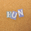 Stock Photo: Fun Word Made From Newspaper Letter
