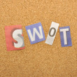 Stock Photo: SWOT Word Made From Newspaper Letter