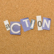 Stock Photo: Action Word Made From Newspaper Letter