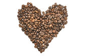 Heart Shape Coffee Beans — 图库照片