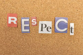 Respect Word Made From Newspaper Letter — Stock Photo