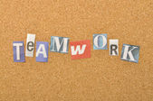 Teamwork Word Made From Newspaper Letter — Stock Photo