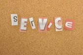 Service Word Made From Newspaper Letter — Stock Photo