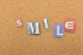 Smile Word Made From Newspaper Letter — Stock Photo