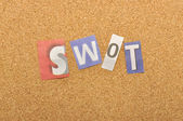 SWOT Word Made From Newspaper Letter — Stock Photo