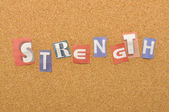 Strength Word Made From Newspaper Letter — Stock Photo