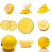 Set Of Juicy Lemon Fruit — Stock Photo
