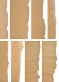 Set Of Textured Cardboard With Torn Edges — Stock Photo